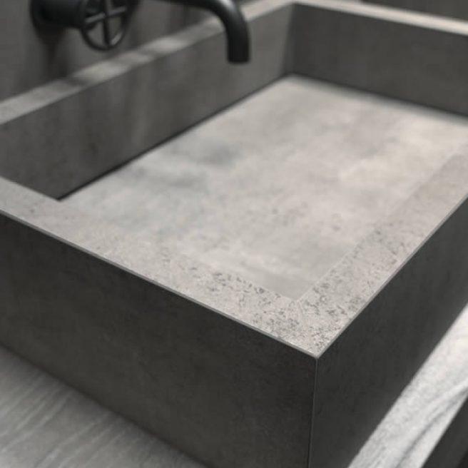 waschbecken aus feinsteinzeug